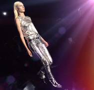 @cocorocha: Spacelady chic at the @DieselBlackGold show this afternoon. #NYFW #dbgshow