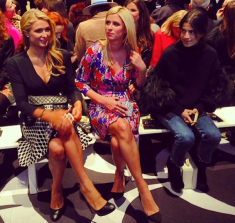 @janekeltnerdev: The third Hilton sister finally emerges at DVF. #nyfw