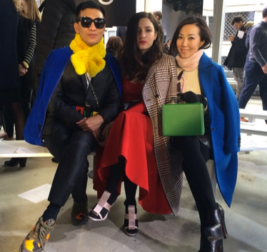 @bryanboycom: At BOSS Hugo Boss show by my gurl Jason Wu with @eleonora_grazia_it @bagsnob