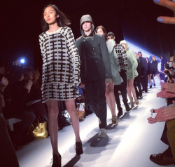 @rumineely: Fresh greens with a side of periwinkle for fall @lacoste #lacostefw14