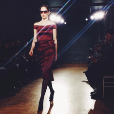 @luckymagazine: Power walk: @cocorocha at @zac_posen #nyfw