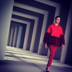 @victoriaalewis: Seeing red at @houseofherrera this morning (watch out for @simslansing sporting this look next fall) 💃 #nyfw